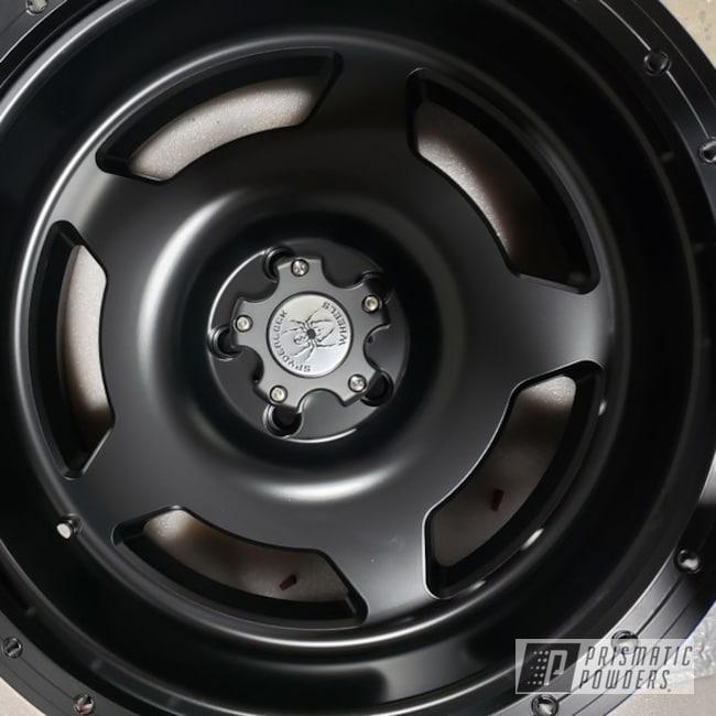 Powder Coated Black 20 Inch Jeep Wrangler Wheels