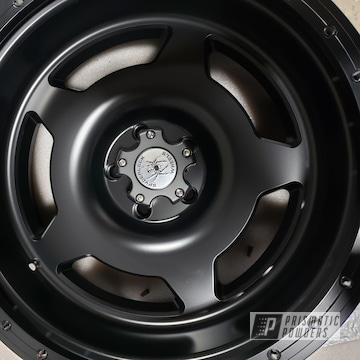 Powder Coated Black 20 Inch Jeep Wrangler Wheels