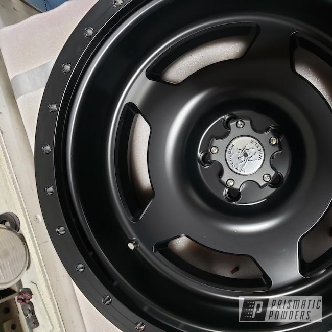 "Powder Coating: Wheels,Automotive,BENTON YELLOW PSB-4681,20"",20"" Aluminum Wheels,Jeep,Spyderlock Wheels,Silk Satin Black HSS-1336,Wrangler"
