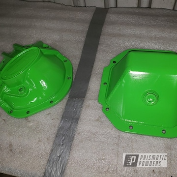 Green 1995 Jeep Wrangler Differential Covers