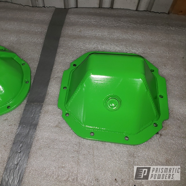 Powder Coating: Off-Road,diff cover,Differential Cover,Jeep,1995 Jeep,Kiwi Green PSS-5666,Wrangler,Wrangler YJ
