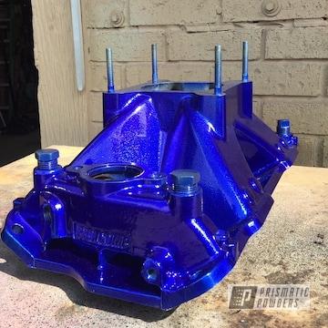 Powder Coated Blue Engine Parts