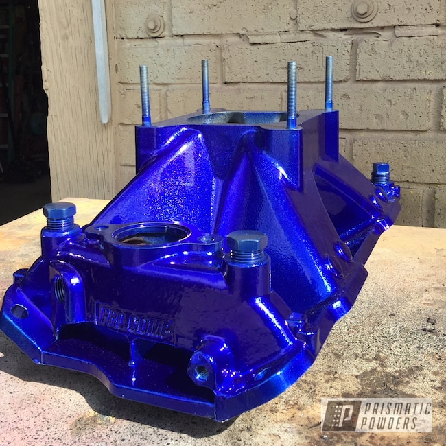 Powder Coating: Custom Engine Covers,Automotive,LOLLYPOP BLUE UPS-2502,Engine Parts