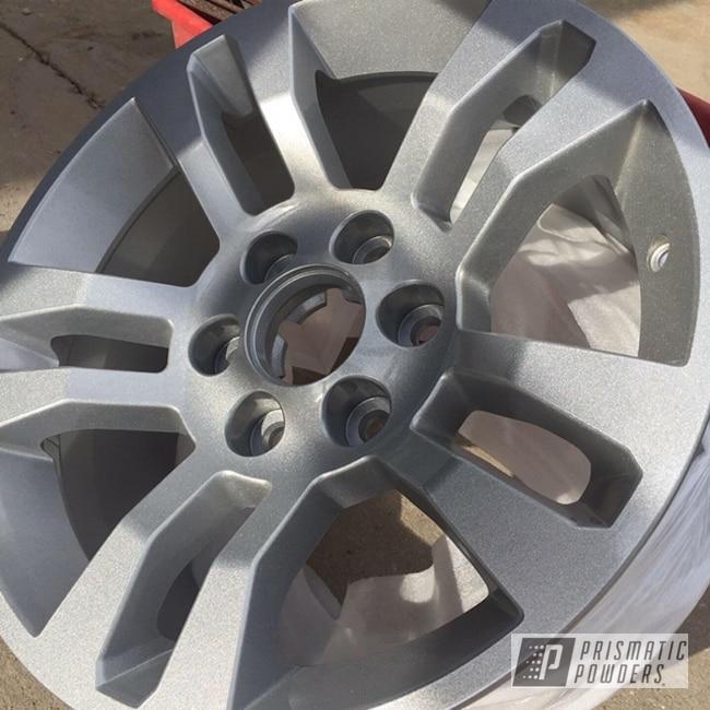 "Powder Coating: Wheels,Custom,Automotive,Custom Rims,18"",Custom Wheels,Custom Auto Parts,Custom Powder Coated Wheels,18"" Wheels,Custom Powder Coating,Rims,Alien Silver PMS-2569,18"" Aluminum Wheels"