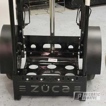Powder Coated Black Zuca Disc Golf Cart