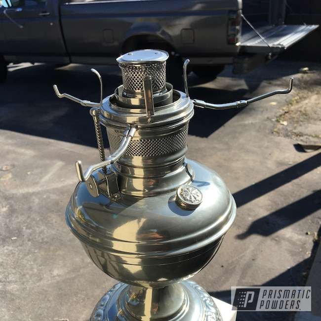 Powder Coating: Clear Vision PPS-2974,SUPER CHROME USS-4482,Vintage Oil Lamp,Miscellaneous