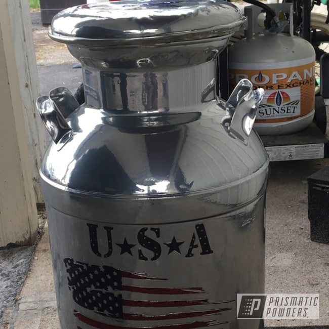 Powder Coating: Clear Vision PPS-2974,MIXED BERRY UPB-5992,SUPER CHROME USS-4482,Milk Can,Vintage,Intense Blue PPB-4474,Miscellaneous