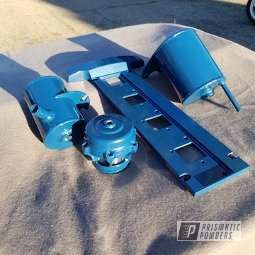 Powder Coated Blue Mitsubishi Evo 8 Engine Bay Parts