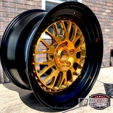 Wheel Centers Done In Transparent Gold To Complete This Two Toned Rim