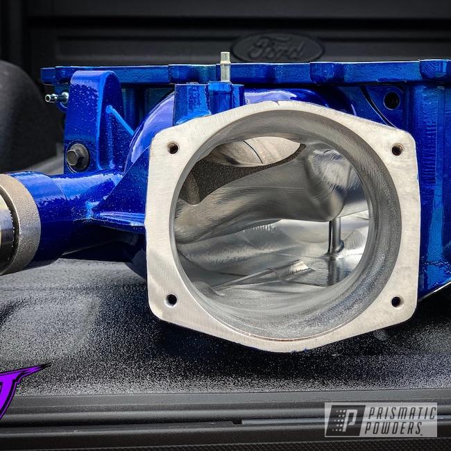 Powder Coating: Automotive,CTS-V,Cheater Blue PPB-6815,SUPER CHROME USS-4482,Chevrolet,ZL1,LSA,CTSV,Camaro ZL1,Automotive Parts,Cadillac,Supercharger