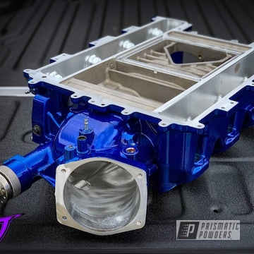 Blue Chevy Camaro Supercharger