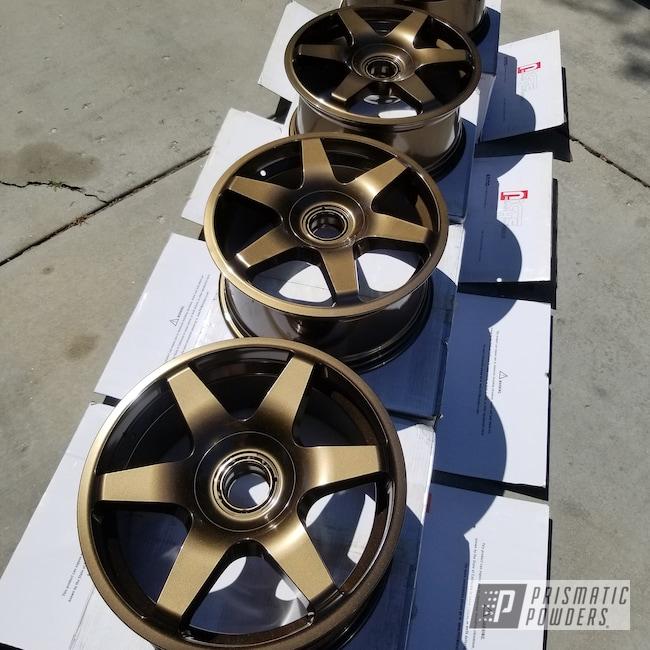 "Powder Coating: Wheels,Automotive,17s,Bronze Chrome PMB-4124,17"" Wheels,Audi"