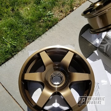 Powder Coated Bronze 17 Inch Audi Rims