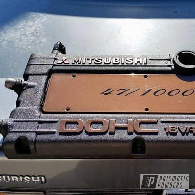Powder Coating: Splatter Black PWS-4344,Automotive,2 Stage 3 Tone,Clear Vision PPS-2974,Hacienda Red Wrinkle PWB-6450,VANDOOZY COPPER UMB-6675,Mitsubishi,Valve Cover