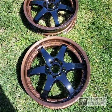 Black And Copper Two Tone 17 Inch Wheels