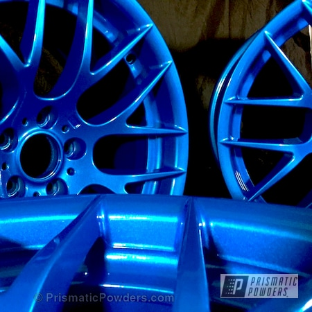 Powder Coating: Wheels,Automotive,Clear Vision PPS-2974,Illusion Lite Blue PMS-4621