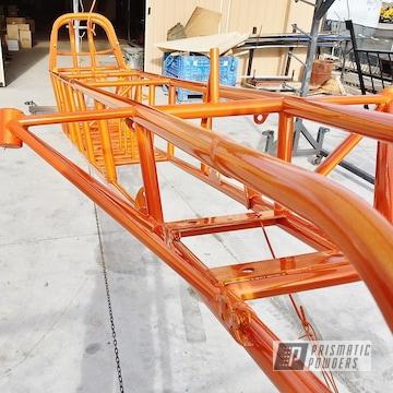 Powder Coated Orange Race Car Chassis