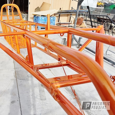 Powder Coating: Automotive,Clear Vision PPS-2974,chassis,Illusion Orange,Illusion Orange PMS-4620,Race Car Chassis