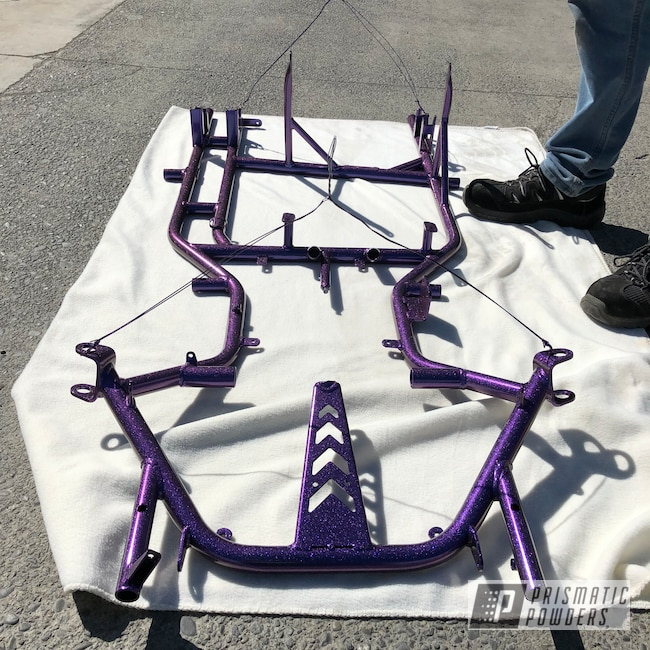Powder Coating: Clear Vision PPS-2974,Grass Kart,Chameleon Violet PPB-5731,GLOSS BLACK USS-2603,chassis