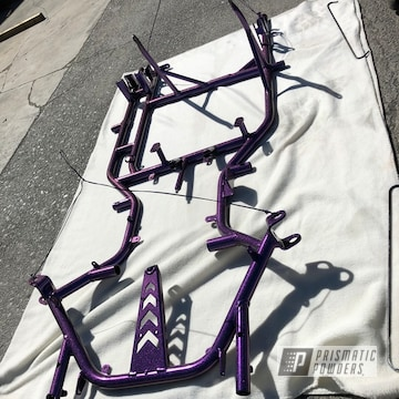 Purple Grass Kart Chassis