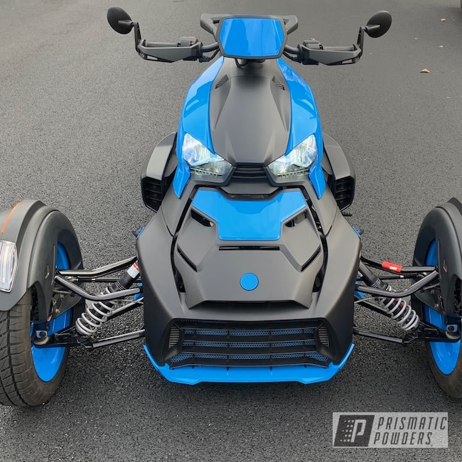 Powder Coating: Automotive,Playboy Blue PSS-1715,Trike,Can-Am Spyder,Motorcycles,Can-Am