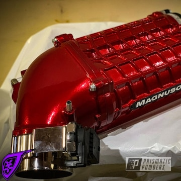 Powder Coated Red Magnuson Dodge Supercharger