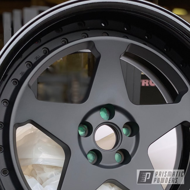 """Powder Coating: Wheels,Automotive,Clear Vision PPS-2974,18"""",Ink Black PSS-0106,18"""" Wheels,Matte Finish,Casper Clear PPS-4005"""