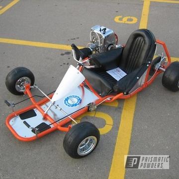 Orange Go Kart Frame