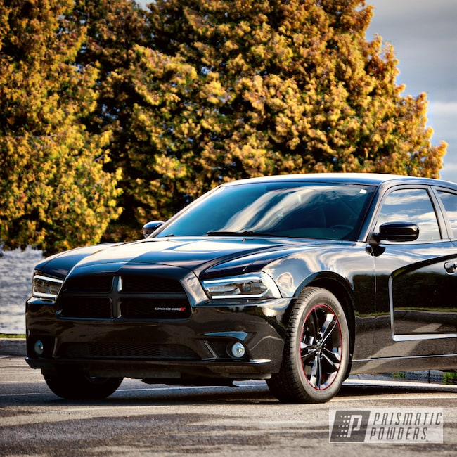 """Powder Coating: Wheels,19"""",Automotive,Clear Vision PPS-2974,Charger,GLOSS BLACK USS-2603,Dodge,Illusion Cherry PMB-6905,19's"""