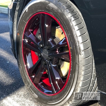 Powder Coated Red And Black 19 Inch Wheels
