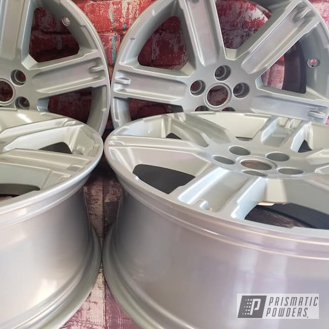 """Powder Coating: Wheels,19"""" Wheels,19"""",Automotive,Clear Vision PPS-2974,2 Stage Application,19"""" Aluminum Rims,Alloy Silver PMS-4983"""