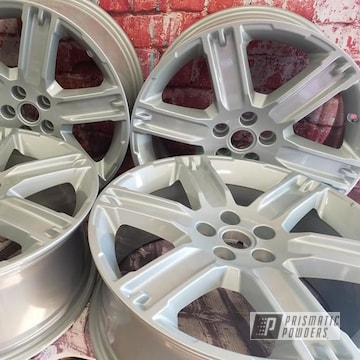 Powder Coated Silver 19 Inch Aluminum Rims