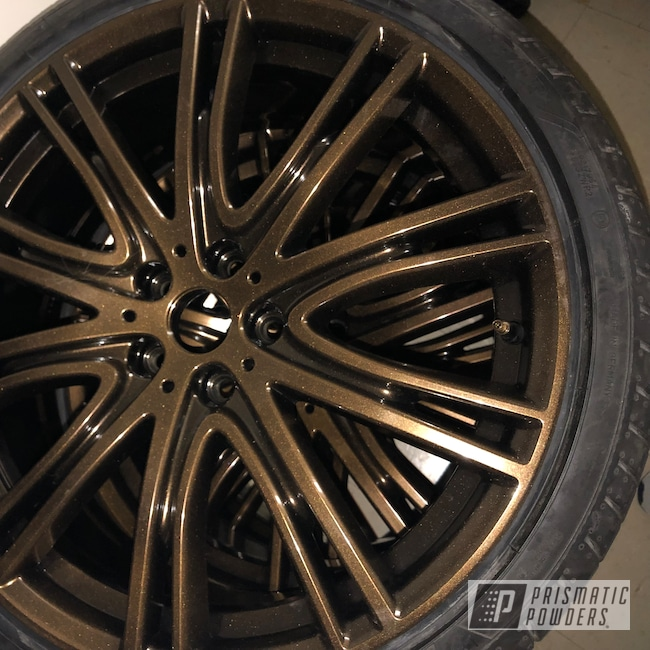 Powder Coating: Wheels,Automotive,GLOSS BLACK USS-2603,Orange Marmalade PPB-5111