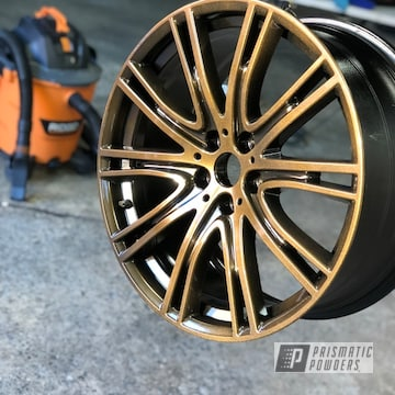 Powder Coated Orangish Bronze Custom Wheels