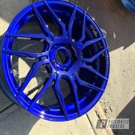 Powder Coating: Wheels,Automotive,Illusion Blueberry PMB-6908,LP Blue PPB-6617