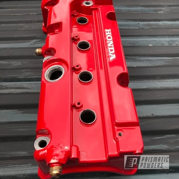 Powder Coated Red Honda K20 Valve Cover