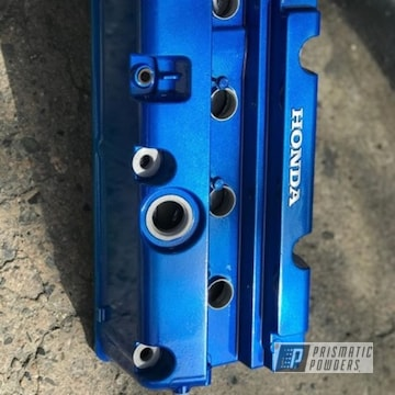 Blue Honda K20 Valve Cover