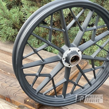 Powder Coated Matte Black Bmw Motorcycle Wheels