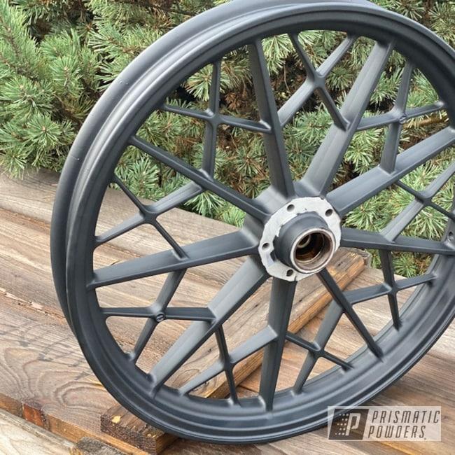 Powder Coating: Wheels,Aluminium Wheels,Ink Black PSS-0106,2 Stage Application,BMW,Motorcycles,Casper Clear PPS-4005