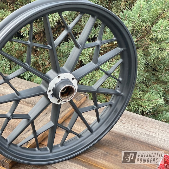 Powder Coating: Wheels,Aluminium Wheels,Ink Black PSS-0106,2 Stage Application,BMW,Motorcycles,Casper Clear PPS-4005