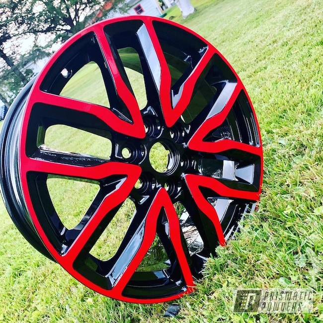 "Powder Coating: Wheels,18"",Automotive,18"",2 Color Application,2 Tone Rims,18"" Wheel,18"" Wheels,Astatic Red PSS-1738,18"" Aluminum Wheels"