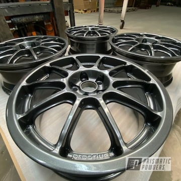 Powder Coated Grey 17 Inch Subaru Alloy Wheels