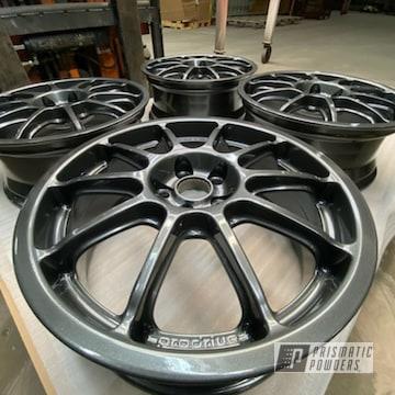 Powder Coated Grey 17 Inch Subaru Alloy Wheels