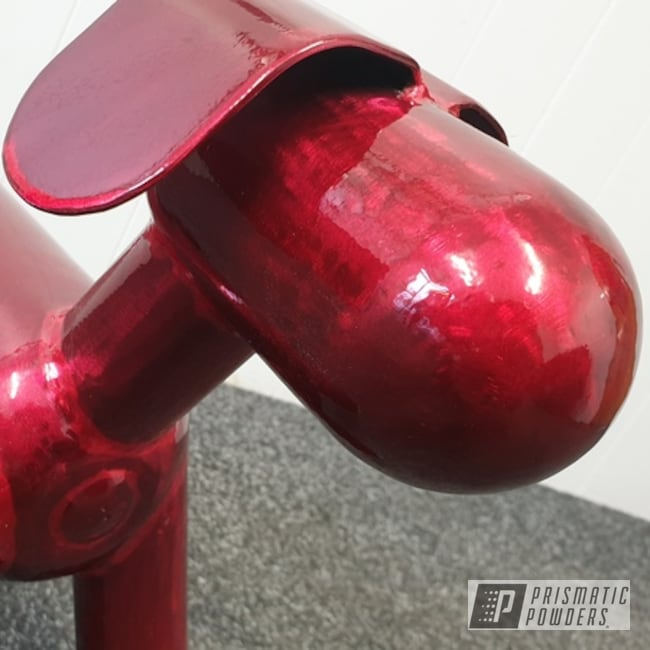 Powder Coating: Metal Art,Dog,Art,Soft Red Candy PPS-2888,Miscellaneous