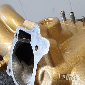 Gold Subaru Wrx Sti Intake Manifold