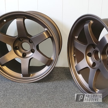 Bronze And Black Two Toned Aluminium Wheels