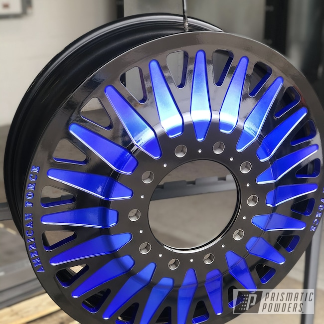 "Powder Coating: Wheels,Automotive,28"" Wheels,LOLLYPOP BLUE UPS-2502,American Force"