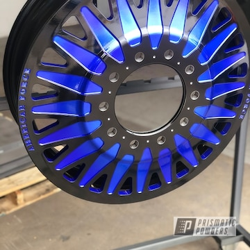 Powder Coated Blue And Black Two Toned American Force Wheels