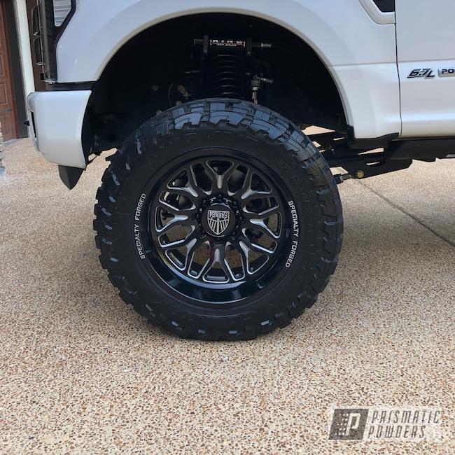 Powder Coating: Wheels,Automotive,Ink Black PSS-0106,Two Tone Wheels,Ford,Ford F350