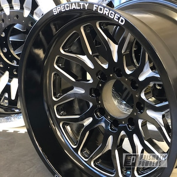 Black Ford F350 Wheels
